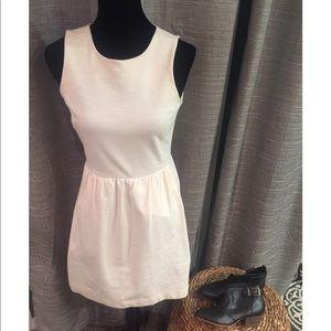 Madewell cream sleeveless dress XS